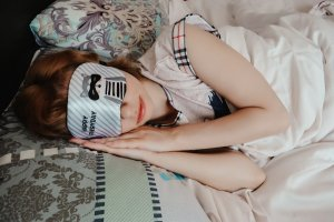 sleeping girl sleep mask