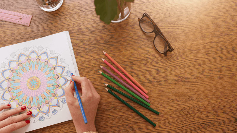 stress and overwhelm relief with coloring