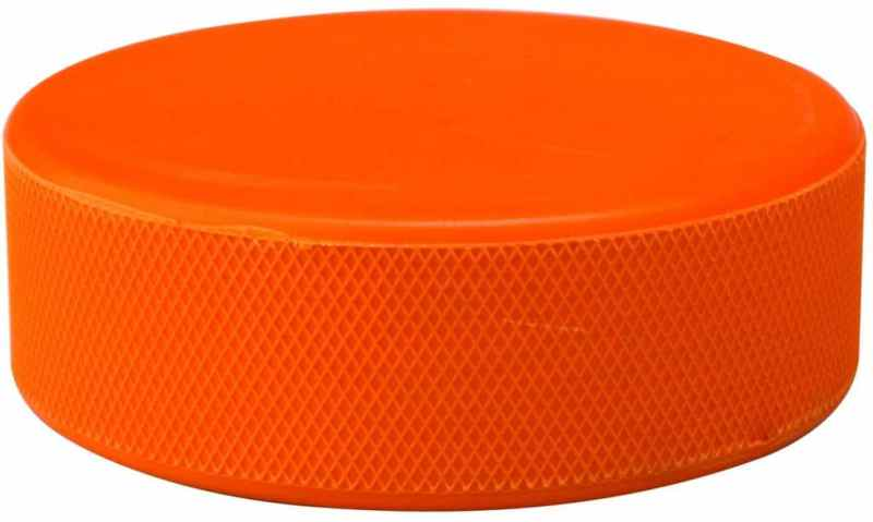 Nijdam Ice Hockey Puck in Blister Orange