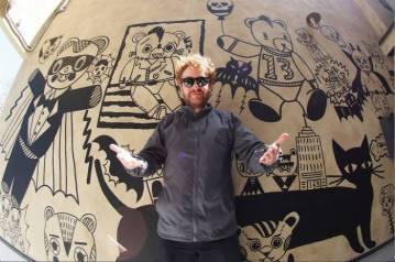 Rob Kidney-WISH LESS studio mural commission