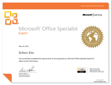MOS: Excel Expert 2010
