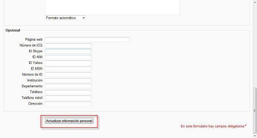 Configuración de la cuenta de administrador, tercera parte