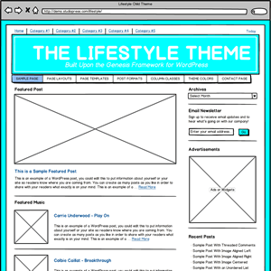 Download Balsamiq Genesis Lifestyle Theme Mockup