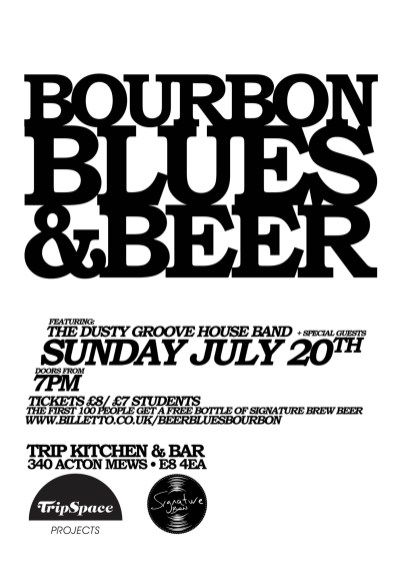 Bourbon Blues & Beer poster