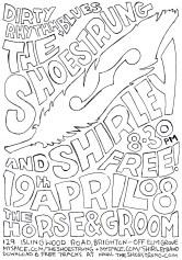 gig poster drawing