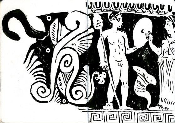Greek vase 2 (ink - 21 x 29 cm)