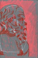 Socrates 2 (watercolour crayon - 21 x 15 cm)