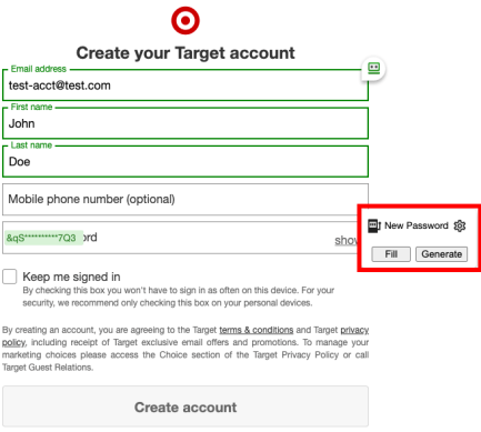 Easily generate secure passwords from the new RoboForm extension.