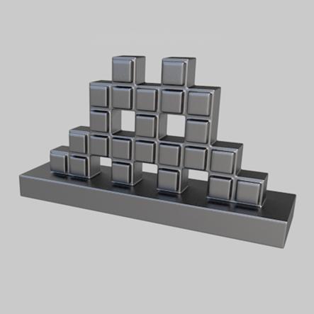 'Invader-Mosaic', een speelstuk van het spel Streetopoly.