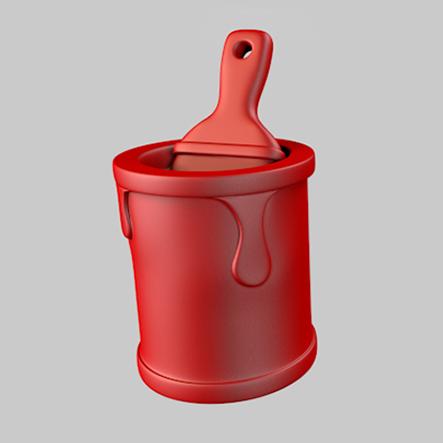'Paint-Bucket', een speelstuk van het spel Streetopoly.
