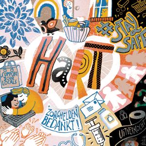 Illustratie middenpagina 'Rond om corona'