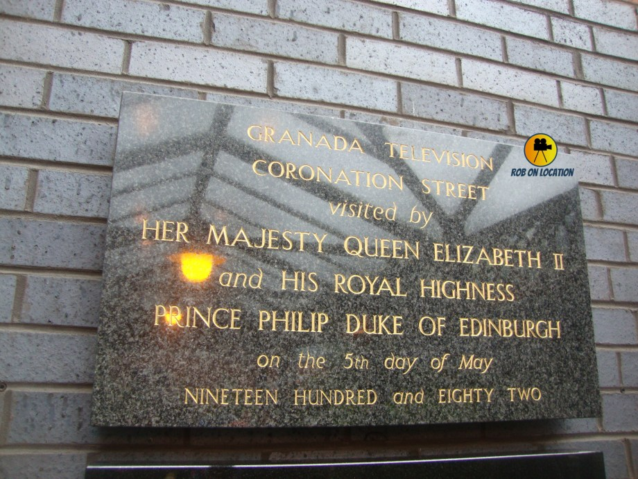 Coronation Street plaque