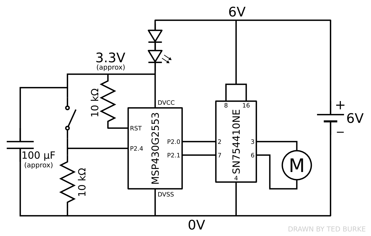 A Simple Example Of A Switch Controlling A Motor