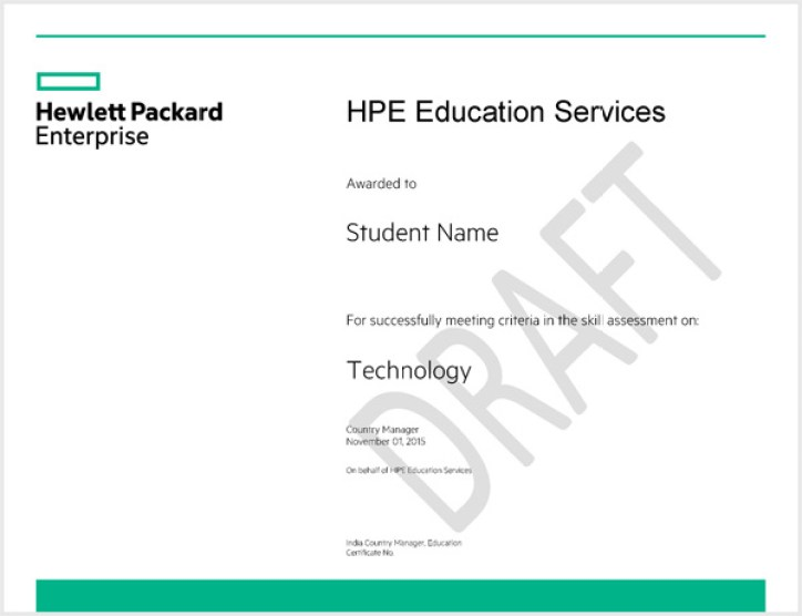 HP CoC Certification