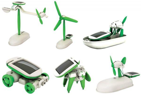 6in1 Solar Spielzeug Baukasten Lernspielzeug DIY