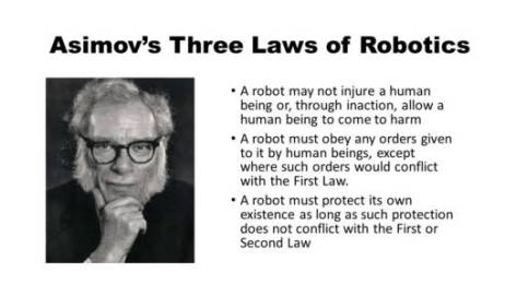 Asimov's Three Laws of Robotics