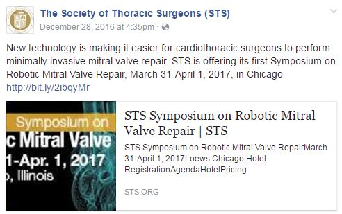 Dr. Guy leads national symposium in robotic mitral valve repair