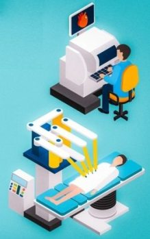 Robotic Heart Surgery involves the surgeon sitting at a console and controlling the robotic movements