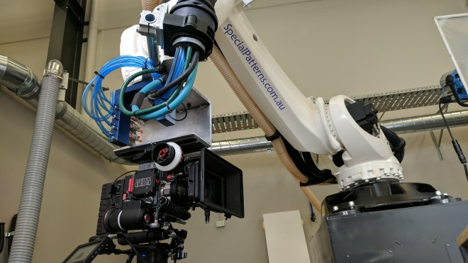 robot with high speed camera