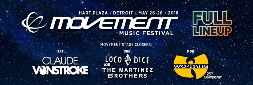Movement Detroit 2018 Lineup Announced