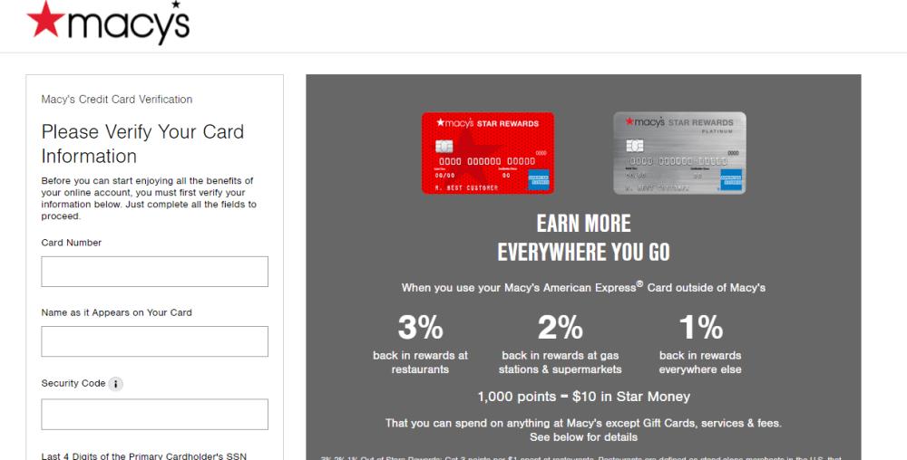 Macys Credit Card Activate