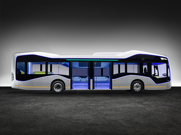 Mercedes autonomous bus takes passengers towards a future of 'spectacular' smart cities