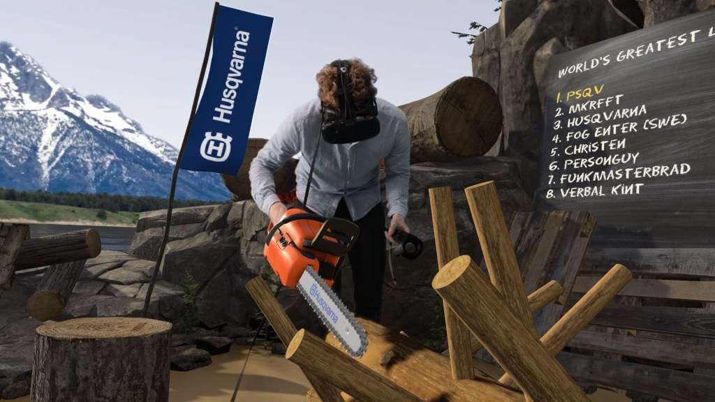Husqvarna launches virtual reality game for lumberjacks