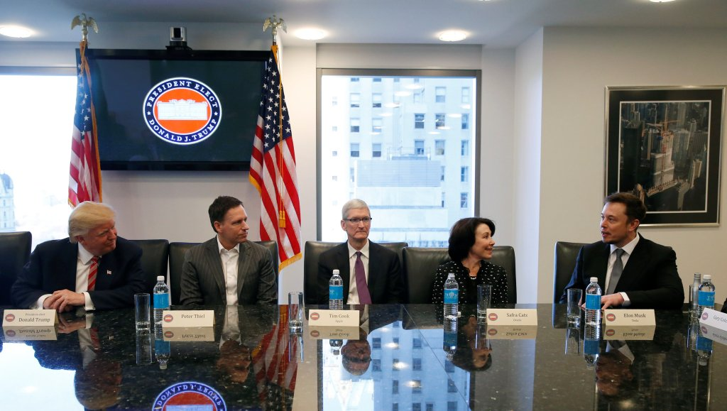 President-elect Donald Trump meets with tech leaders for informal chinwag before inauguration