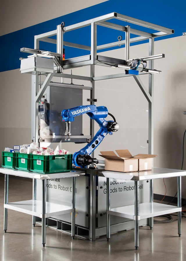 Yaskawa showcases Neocortex robotic work cell for material handling