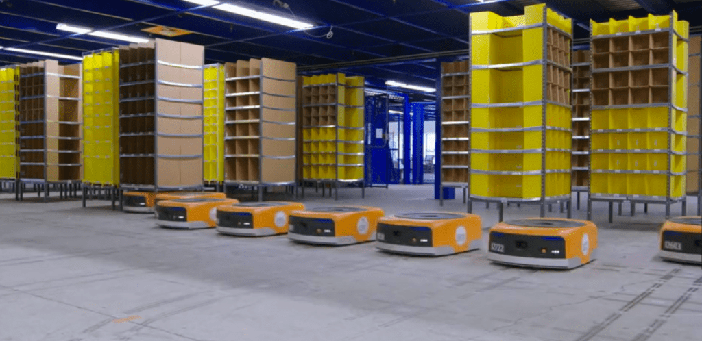 Amazon has 45,000 robots working in its warehouses