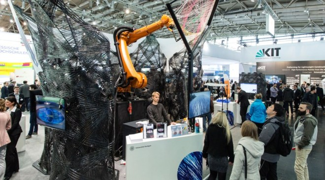 kuka robot at hannover messe