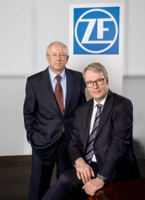Stefan Sommer, CEO of ZF and John Plant, CEO of TRW