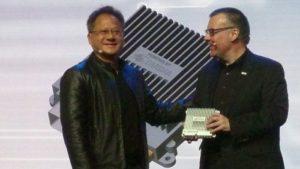 Huang with Bosch's Jensen Dirk