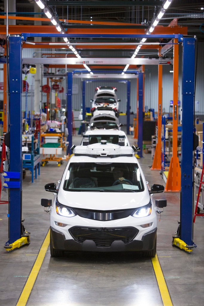 Chevrolet Bolt EV autonomous test vehicles are assembled at GM