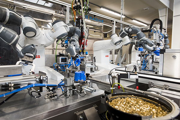 ABB puts YuMi collaborative industrial robot to work making wall sockets at its factory in Holland