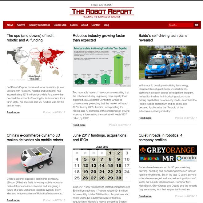 therobotreport homepage