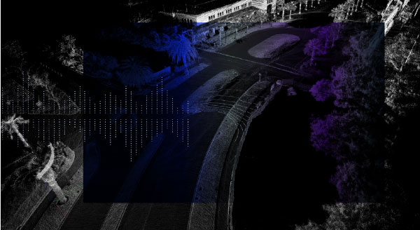 Santa Clara, augmented lidar image, courtesy of DiBotics