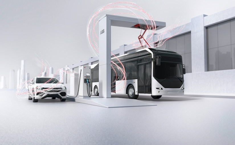 ABB shows off its range of electric vehicle charging solutions
