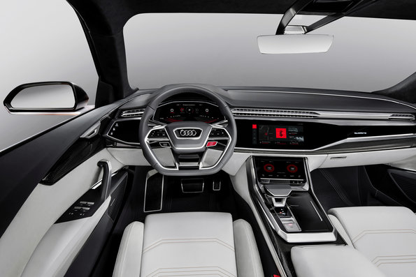 Audi Q8 interior with seamless integrated Android
