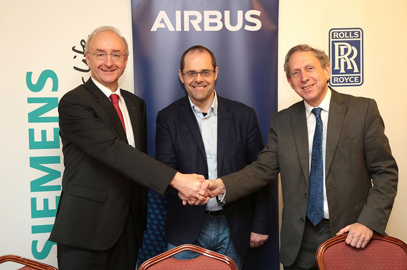 Airbus, Rolls-Royce, and Siemens launch electric hybrid plane
