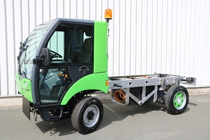 Baumüller demonstrates compact drive system for an 'electric, multifunctional municipal vehicle'