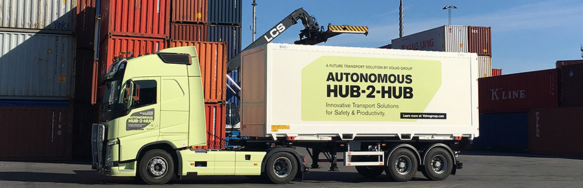 Volvo unveils driverless truck aimed at 'hub-to-hub' intralogistics operations