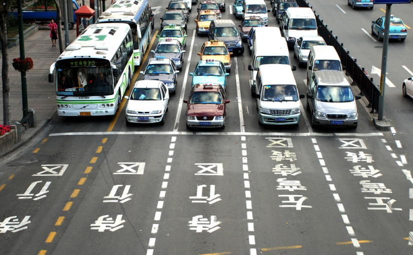 road traffic in china