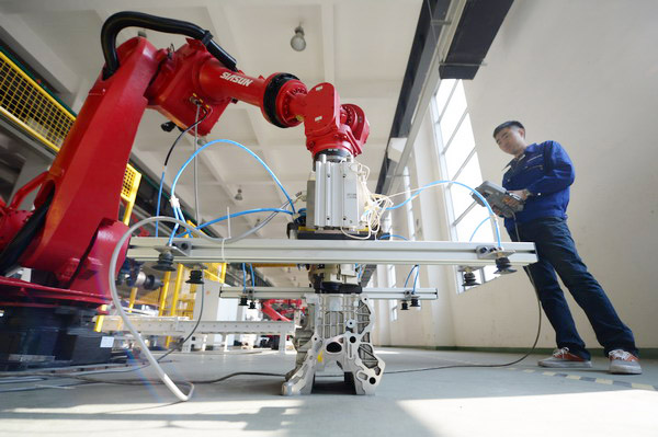 Chinese robot makers produced more than 100,000 industrial robots in first 10 months of 2017