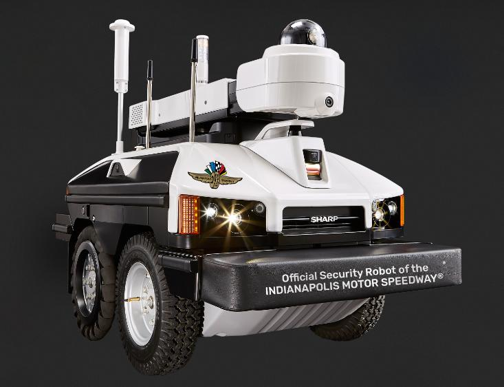 Sharp Intellos robot protects US speedway venue