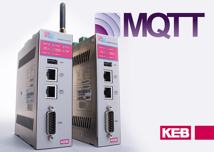 KEB America integrates MQTT into its C6 router