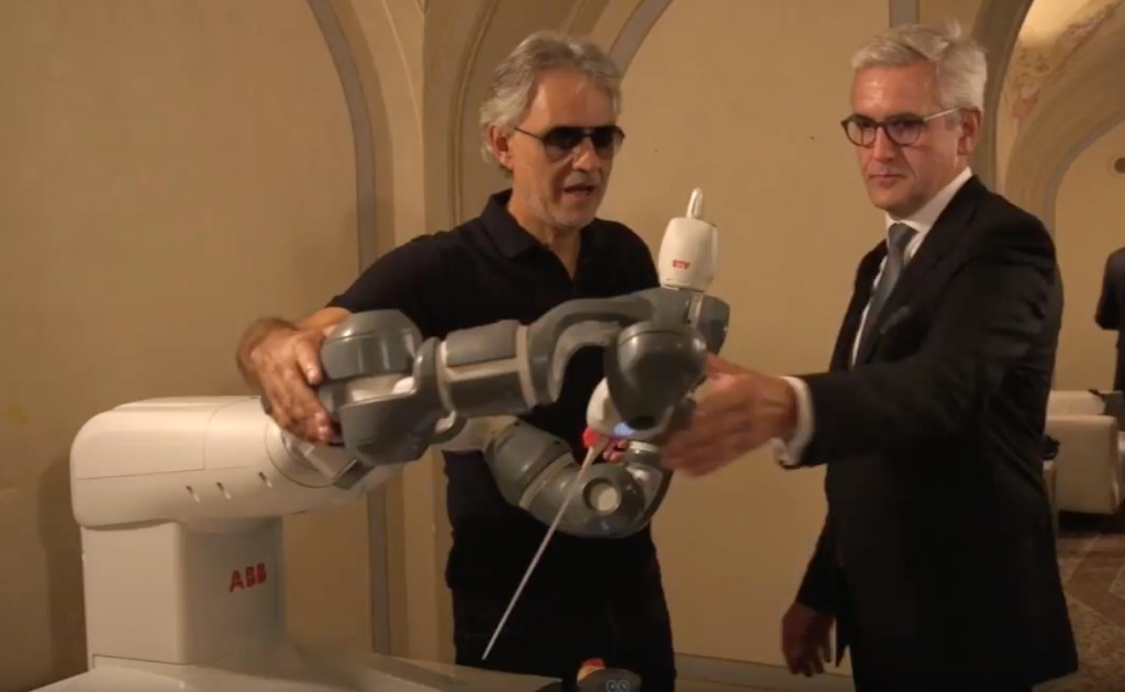 ABB boss talks up musical talents of company's YuMi collaborative robot