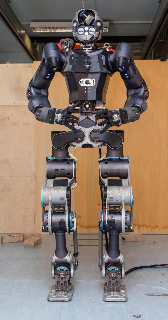 European scientists show off humanoid robot that can put out fires