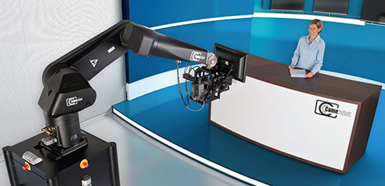Robotic arms being employed as camera operators