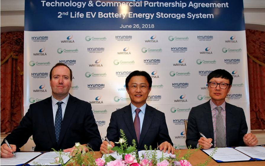 Hyundai and Wärtsilä partner on second-life electric vehicle batteries for energy storage